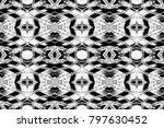 seamless black and white... | Shutterstock . vector #797630452