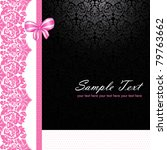 vintage pink and black card