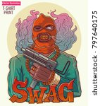 brutal swag gangster with an... | Shutterstock .eps vector #797640175