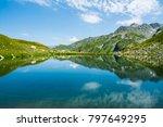 mountain lake. beautiful...   Shutterstock . vector #797649295