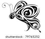 butterfly tribal tattoo   Shutterstock .eps vector #79765252