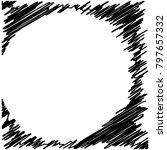 circle hatching grunge graphite ... | Shutterstock .eps vector #797657332