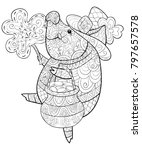 adult coloring book page a cute ... | Shutterstock .eps vector #797657578