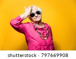 grandmother portrait set in the ... | Shutterstock . vector #797669908