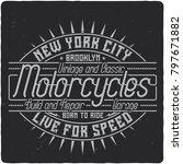 vintage label design with... | Shutterstock .eps vector #797671882