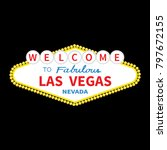 welcome to las vegas sign icon. ... | Shutterstock . vector #797672155