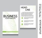 vector brochure flyer design... | Shutterstock .eps vector #797675512