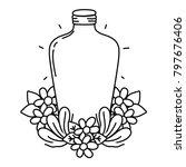 line long mason jar with... | Shutterstock .eps vector #797676406