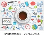 modern flat thin line and... | Shutterstock .eps vector #797682916