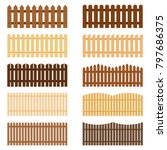 set of fences  vector... | Shutterstock .eps vector #797686375