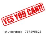 yes you can red stamp text on... | Shutterstock .eps vector #797695828