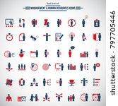 universal business management... | Shutterstock .eps vector #797705446