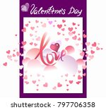 postcard with valentine's day ... | Shutterstock .eps vector #797706358