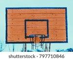 old worn wooden basketball...   Shutterstock . vector #797710846
