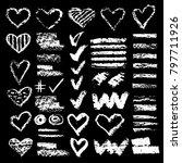 set of chalk vector textures.... | Shutterstock .eps vector #797711926