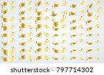 golden vintage ribbon... | Shutterstock .eps vector #797714302