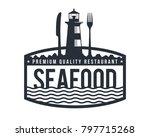 Vintage Monotone Seafood...