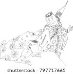 the prince and the frog.... | Shutterstock . vector #797717665