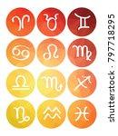 set of horoscope symbols... | Shutterstock .eps vector #797718295