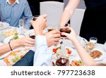 at a party  people drink alcohol | Shutterstock . vector #797723638