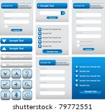 web log in forms  navigation ... | Shutterstock .eps vector #79772551