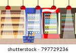 interior of a supermarket. a... | Shutterstock .eps vector #797729236