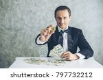 business man rich trader... | Shutterstock . vector #797732212