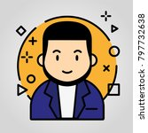 iconic avatar business | Shutterstock .eps vector #797732638