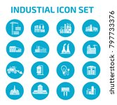 industrial icon set | Shutterstock .eps vector #797733376