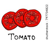 a slice of tomato vector... | Shutterstock .eps vector #797734822