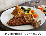 a lunch meal consisting of a... | Shutterstock . vector #797736706