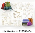 time to travel. journey and... | Shutterstock .eps vector #797741656
