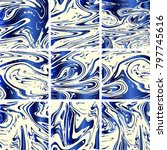 marble texture set. blue  grey  ... | Shutterstock .eps vector #797745616