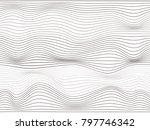 overlay lines.warped gray lines.... | Shutterstock . vector #797746342