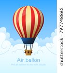 flat hot air balloon | Shutterstock .eps vector #797748862