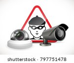 cctv symbol   security camera... | Shutterstock .eps vector #797751478