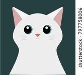 white cat. isolated vector   Shutterstock .eps vector #797758006