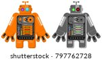 big square robot  vector...   Shutterstock .eps vector #797762728
