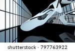 abstract dynamic interior with...   Shutterstock . vector #797763922