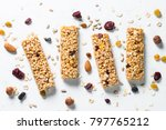 granola bar. healthy sweet... | Shutterstock . vector #797765212