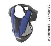 hockey goalie chest protector... | Shutterstock . vector #797768482