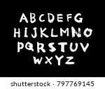 vector fonts   handwritten... | Shutterstock .eps vector #797769145