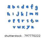 vector fonts   handwritten... | Shutterstock .eps vector #797770222