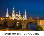 our lady of the pillar basilica ... | Shutterstock . vector #797776582