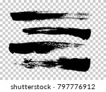 brush strokes isolated. ink... | Shutterstock .eps vector #797776912