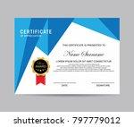 modern certificate vector | Shutterstock .eps vector #797779012