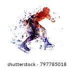 vector watercolor silhouette... | Shutterstock .eps vector #797785018