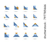 abstract triangle icon set ...   Shutterstock .eps vector #797785666