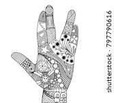 zen tangle of palm. zen tangle...   Shutterstock .eps vector #797790616