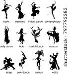 various style dancing.... | Shutterstock .eps vector #797793382